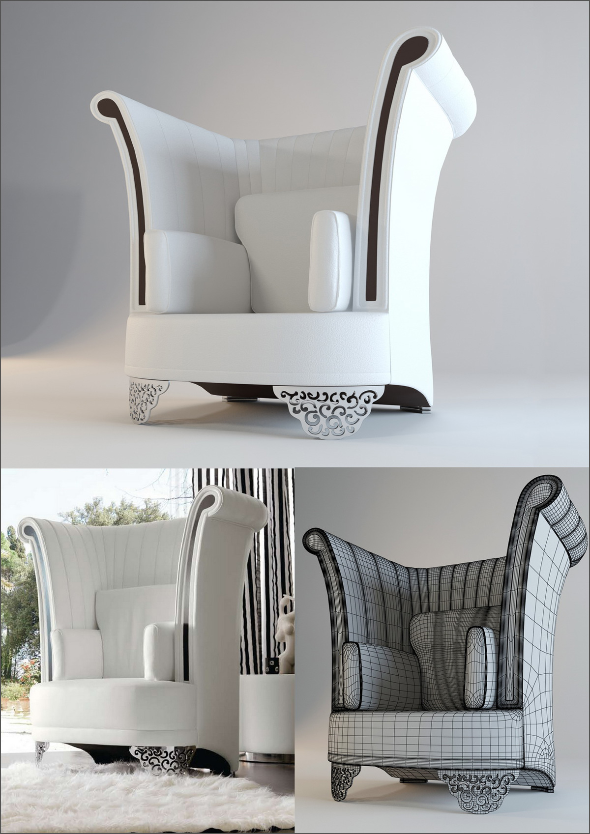 Armchair atlantique. Florence collection