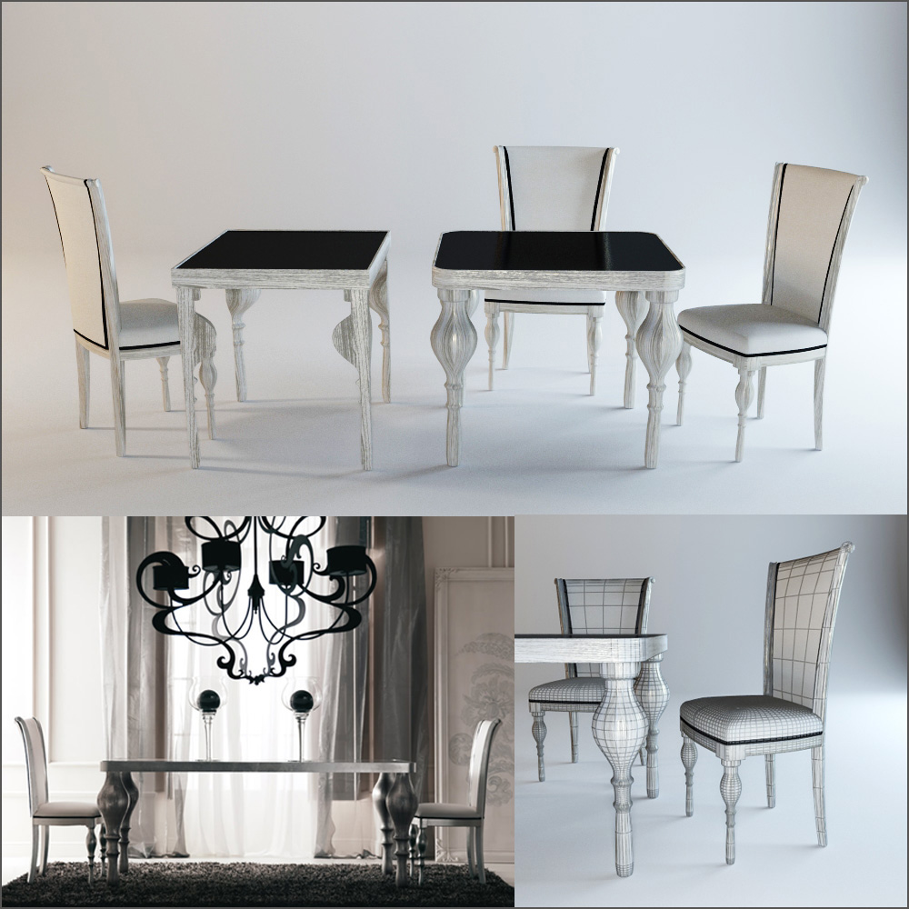 Tables and chair. Corte Zari